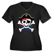Jolly Reggie Women's Plus Size V-Neck Dark T-Shirt
