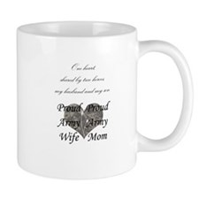 Proud Army wife & mother Mug