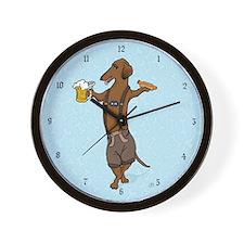 Dachshund Lederhosen Wall Clock