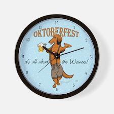 LH Oktoberfest Dachshund Wall Clock