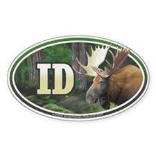 ID Idaho Moose oval car bumper sticker