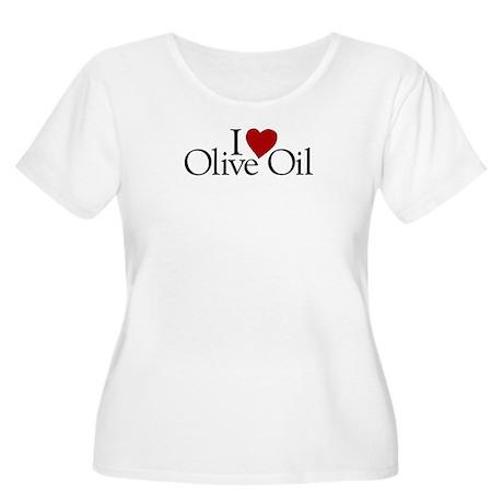 I Love Olive Oil Women's Plus Size Scoop Neck T-Sh