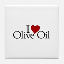 I Love Olive Oil Tile Coaster