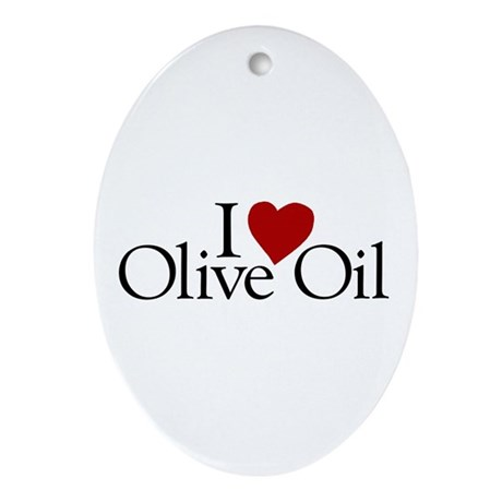 I Love Olive Oil Oval Ornament