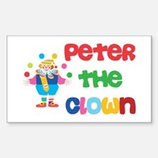 Scott - The Clown Rectangle Decal