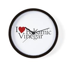 I Love Balsamic Vinegar Wall Clock