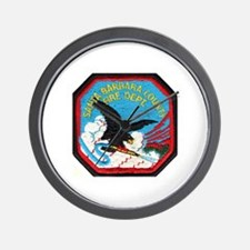 Sta Barbara Co. Fire Wall Clock
