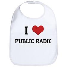 I Love Public Radio Bib