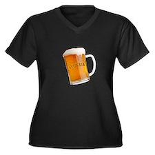 I Sveikata Women's Plus Size V-Neck Dark T-Shirt