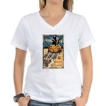 Joyous Halloween Women's V-Neck T-Shirt