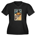 Joyous Halloween Women's Plus Size V-Neck Dark T-S