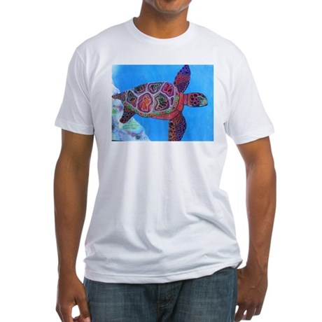 Sea Turtle Fitted T-Shirt