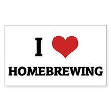 I Love Homebrewing Rectangle Decal