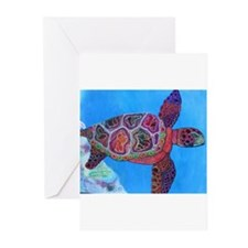 Funny Sea turtles Greeting Cards (Pk of 20)