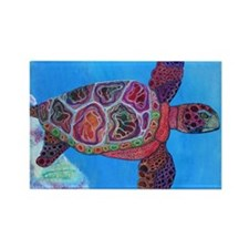 Unique Colorful turtle Rectangle Magnet