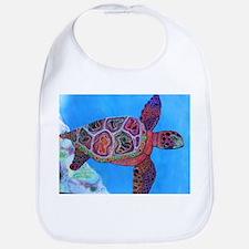 Cute Colorful turtle Bib