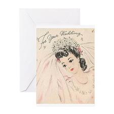 Beautiful Vintage Bride Wedding Greeting Card