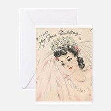 Beautiful Vintage Bride Wedding Greeting Card