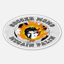 Soccer Moms for McCain Oval Decal
