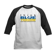 Think Blue And Yellow Tee
