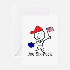 Flag - Joe Six-Pack Greeting Card