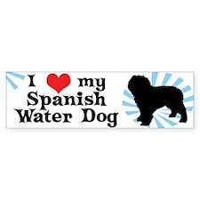 I Love My Spanish Water Dog Bumper Bumper Sticker