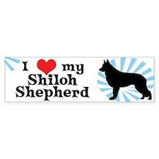 I Love My Shiloh Shepherd Bumper Bumper Sticker