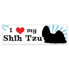 I Love My Shih Tzu Bumper Bumper Sticker