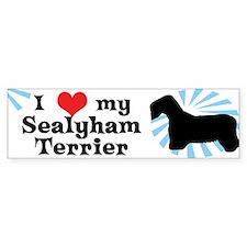 I Love My Sealyham Terrier Bumper Car Sticker