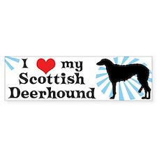 I Love My Scottish Deerhound Bumper Bumper Sticker