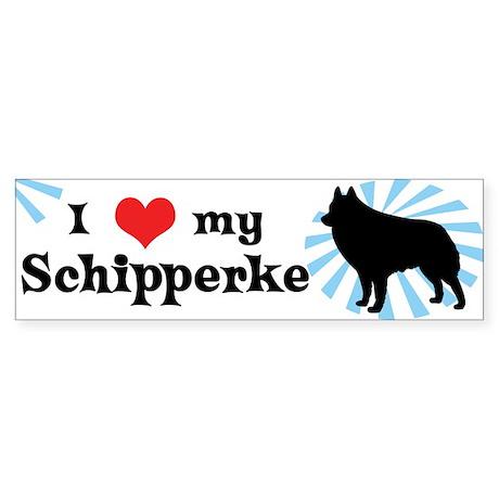 I Love My Schipperke Bumper Sticker