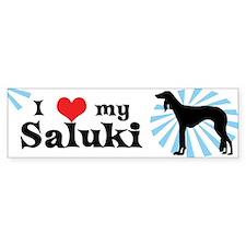 I Love My Saluki Bumper Bumper Sticker