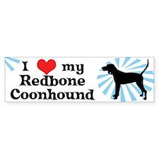 I Love My Redbone Coonhound Bumper Bumper Sticker