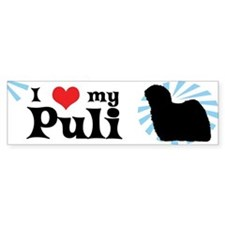 I Love My Puli Bumper Bumper Sticker