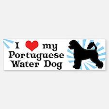 I Love My Portuguese Water Dog Bumper Bumper Bumper Sticker