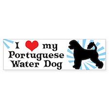 I Love My Portuguese Water Dog Bumper Bumper Sticker