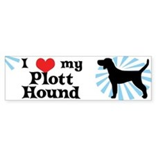 I Love My Plott Hound Bumper Bumper Sticker
