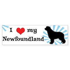 I Love My Newfoundland Bumper Bumper Sticker