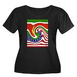 SURINAME Women's Plus Size Scoop Neck Dark T-Shirt