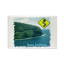 Hana Highway Rectangle Magnet