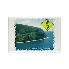 Hana Highway Rectangle Magnet