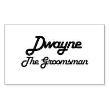 Dwayne - The Groomsman Rectangle Decal