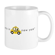 Only In New York Taxi_cartoon Mug