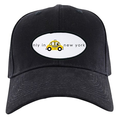 Only In New York Taxi_cartoon Black Cap