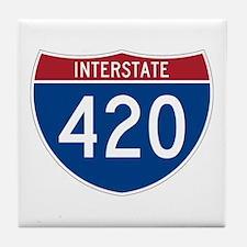 Interstate 420 Tile Coaster
