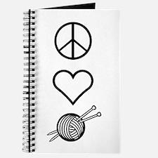 Peace Love Knit Journal