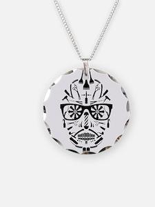 barbershop punk skull Necklace