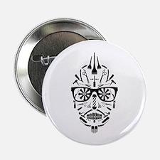 "barbershop punk skull 2.25"" Button (100 pack)"