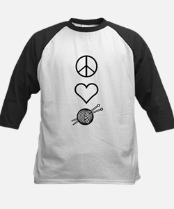 Peace Love Knit Kids Baseball Jersey