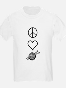 Peace Love Knit Kids T-Shirt